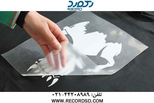 جدا کردن کاغذ ترنسفر در دستگاه پرس حرارتی