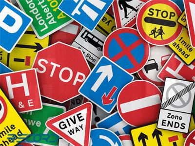 برچسب تابلو های راهنمایی و رانندگی