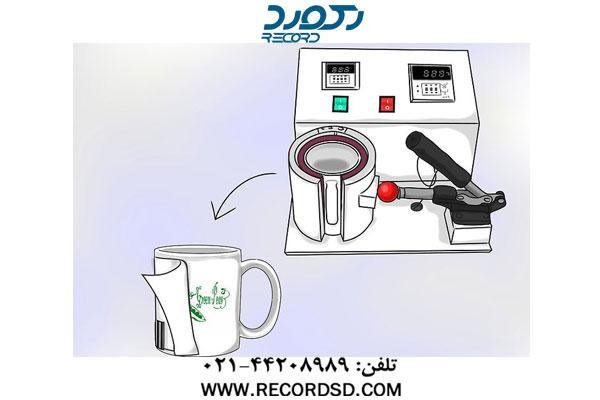 خارج کردن لیوان از دستگاه پرس گرم