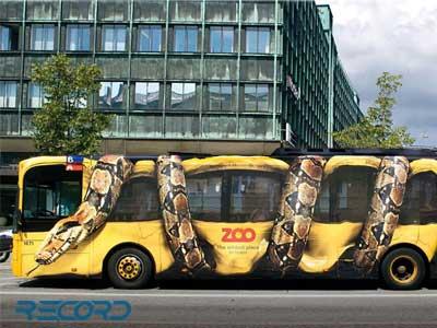 چاپ روی بدنه اتوبوس