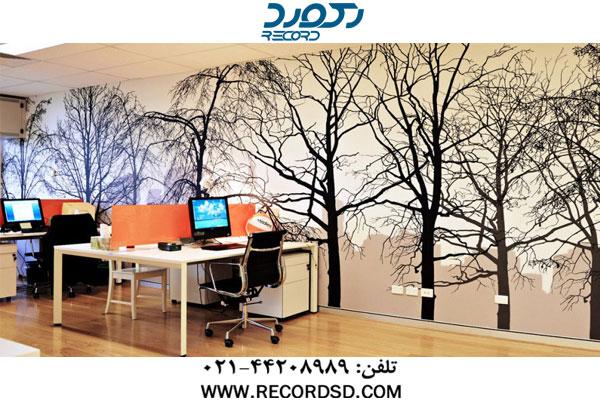 چاپ کاغذ دیواری با دستگاه چاپ فلت بد یووی